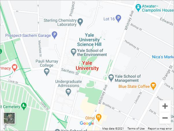 Google Maps - Yale University